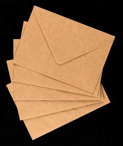 Ribbed craft envelopes